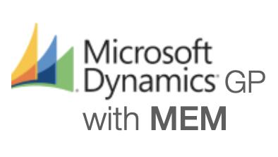 Microsoft Dynamics GP with MEM